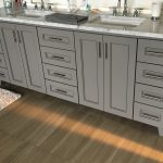 Dual Sink Vanity on Plank Flooring