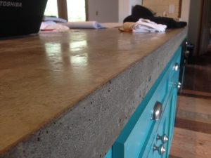 Close up of concrete countertop
