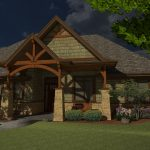 Moderate size custom home design in 3d color
